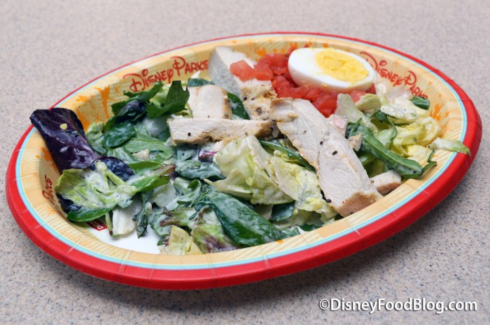 Roasted Chicken with Mixed Greens Salad