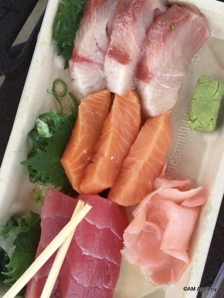 Sashimi of Tuna, Salmon, and Hamachi
