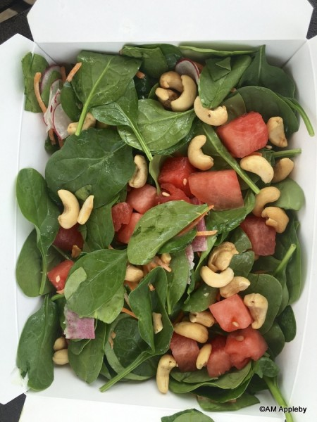 Spinach and Watermelon Salad