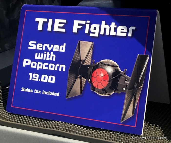 TIE Fighter Popcorn Bucket in Tomorrowland