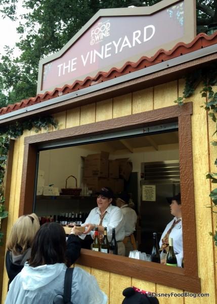 The Vineyard Booth 2016 Disney California Adventure Food and Wine Festival
