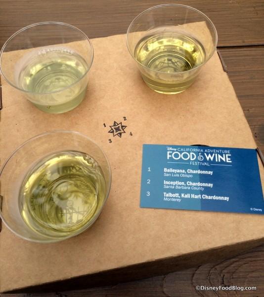 The Vineyard Chardonnay Flight