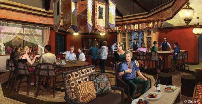 Nomad Lounge Concept Art.  © Disney