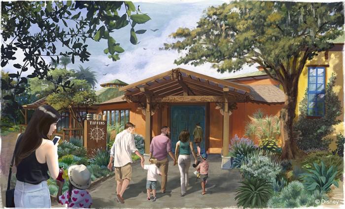 Tiffins Entrance Concept Art.  © Disney