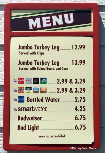Toluca Legs Turkey Co. menu