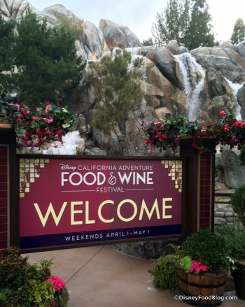 Welcome to the 2016 Disney California Adventure  Food and Wine Festival