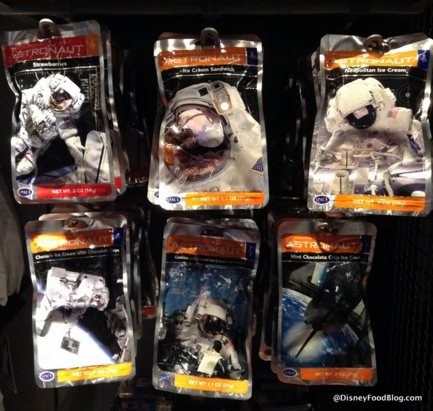 Astronaut Snacks display