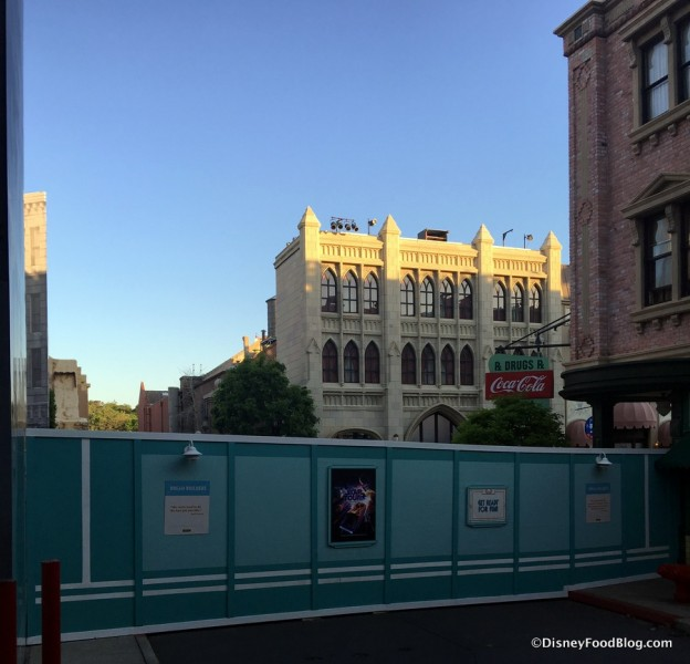 Construction Walls Blocking  the Streets of America