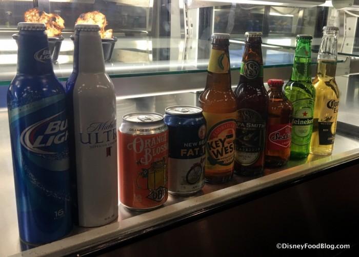 Beverages on Display