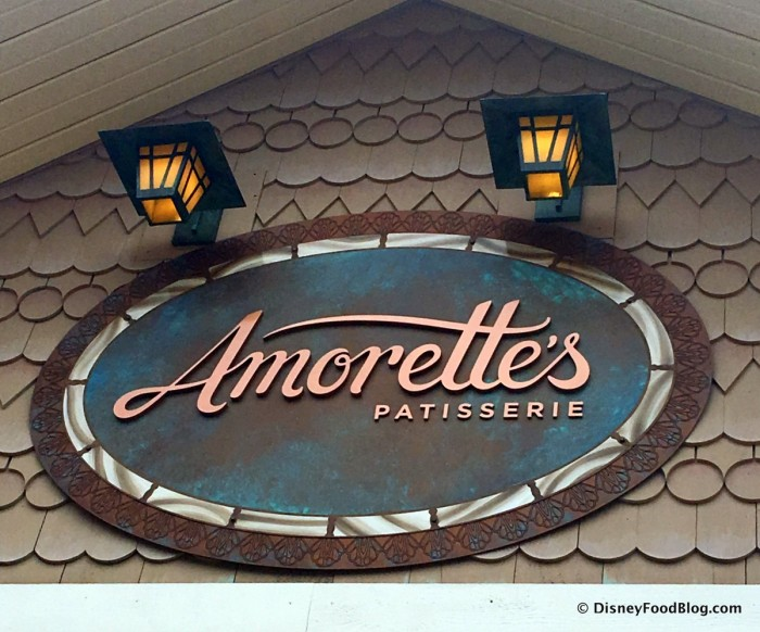 Amorette's Patisserie Sign