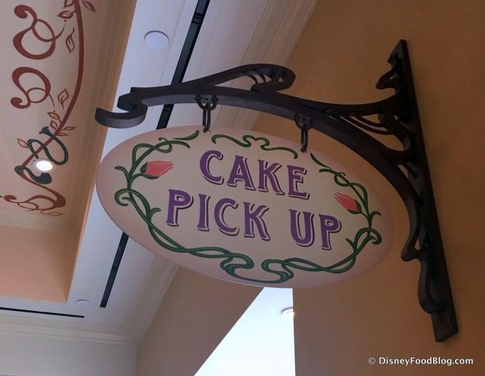 Cake Pick Up Sign