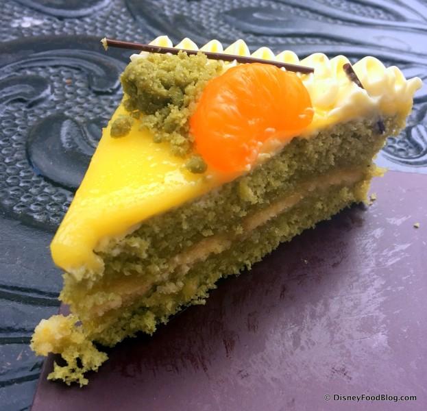Yuzu Chiffon Cake -- Cross Section