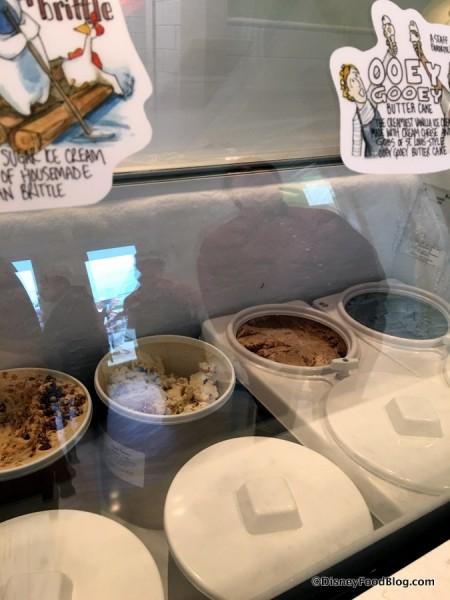 A peek at the ice cream case