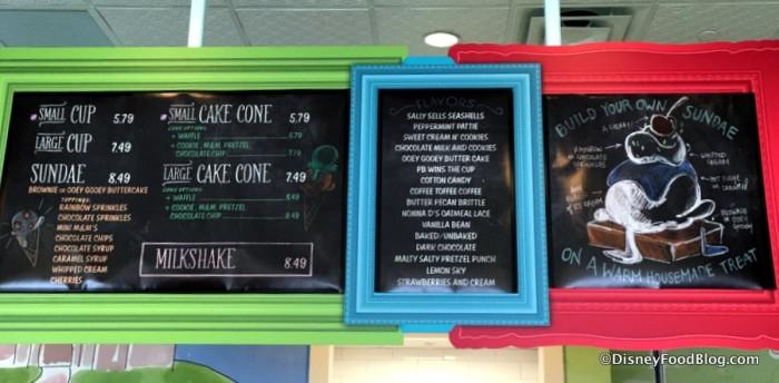 Ample Hills menu