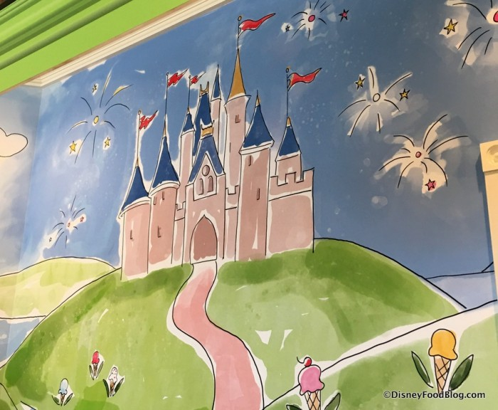 Cinderella Castle in Mural
