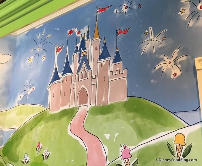 Cinderella Castle in Mural