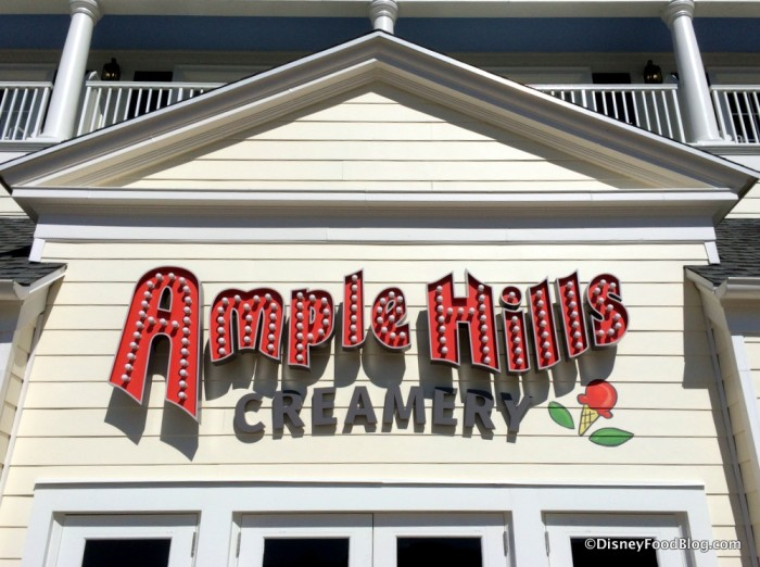 Ample Hills Sign on Disney World's BoardWalk