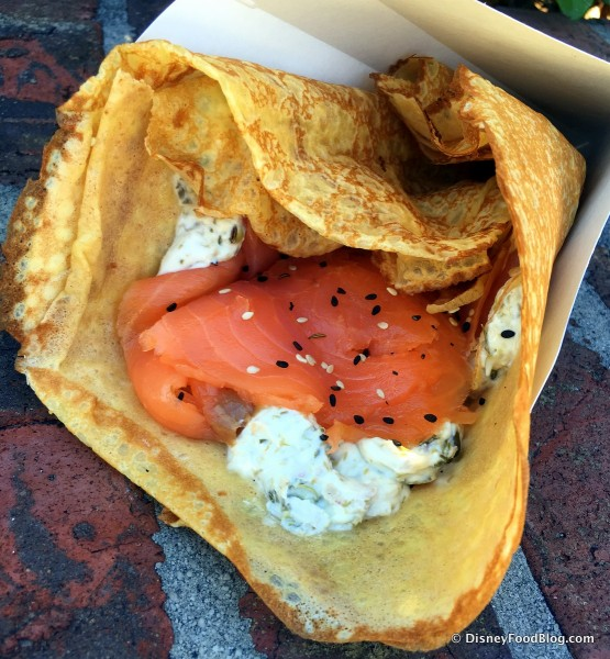 Salmon Crepe -- Up Close