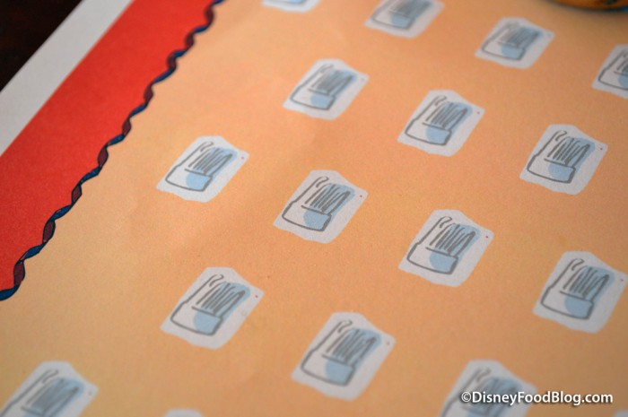 Mini Chef Hats on the Placemats!