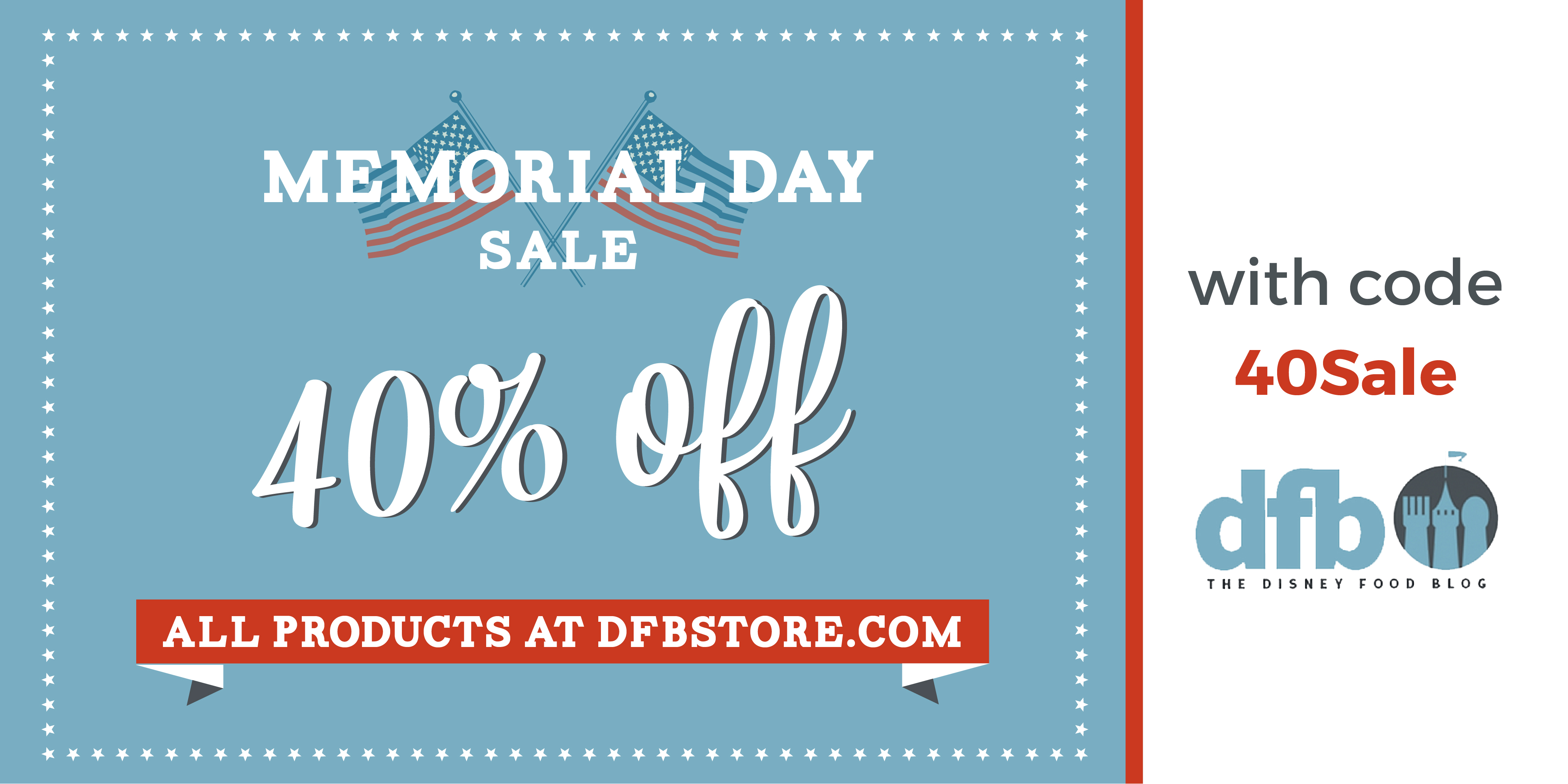 Save 40 on everything in the dfb store with our memorial day sale dfb memorial day sale graphic 02 fandeluxe Gallery