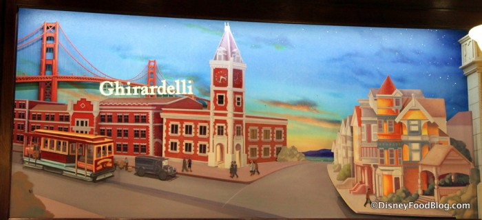 Ghirardelli Mural with Golden Gate Mural