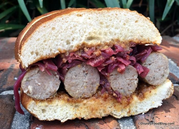 Bavarian Sausage Sandwich