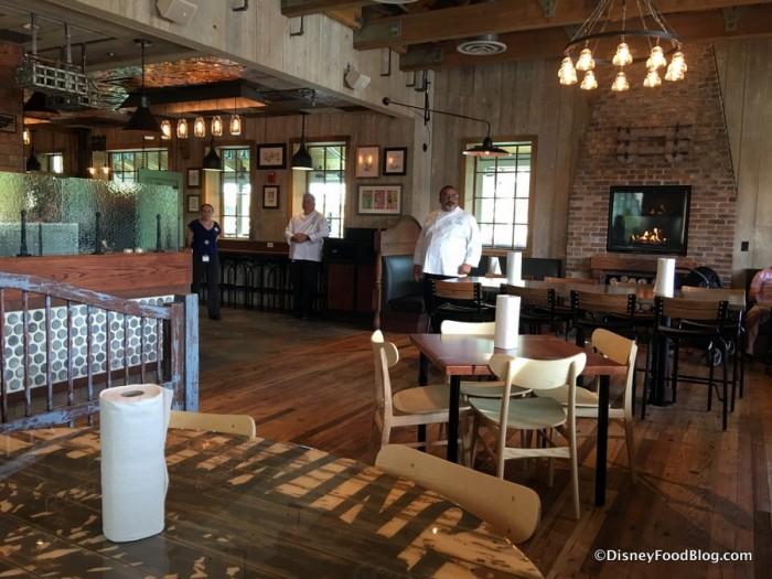 Inside D-Luxe Burger