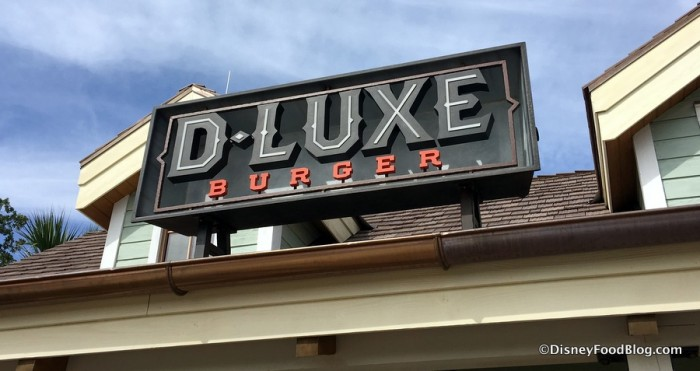 D-Luxe Burger sign