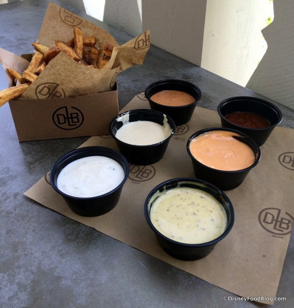 French Fries with Dipping Sauces