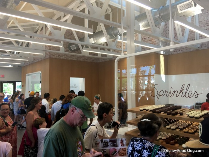 Lines inside Sprinkles on Opening Day