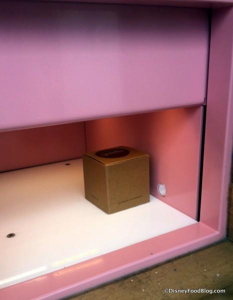 Cupcake waiting inside the door