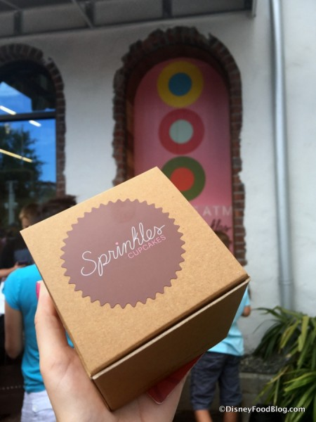 Cupcake in Sprinkles Box from the ATM