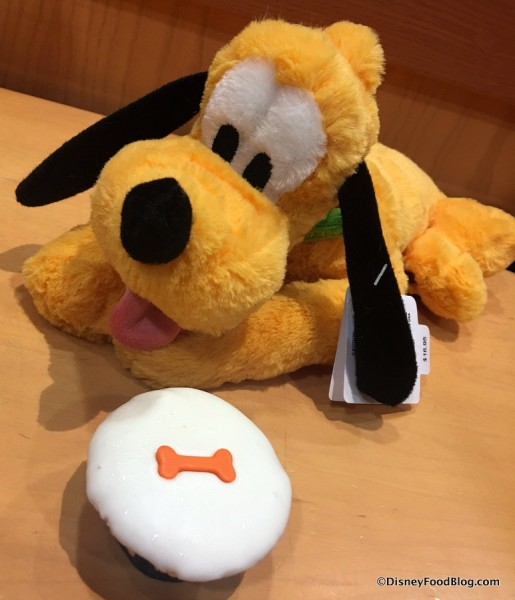 Pluto and his own Doggie Cupcake