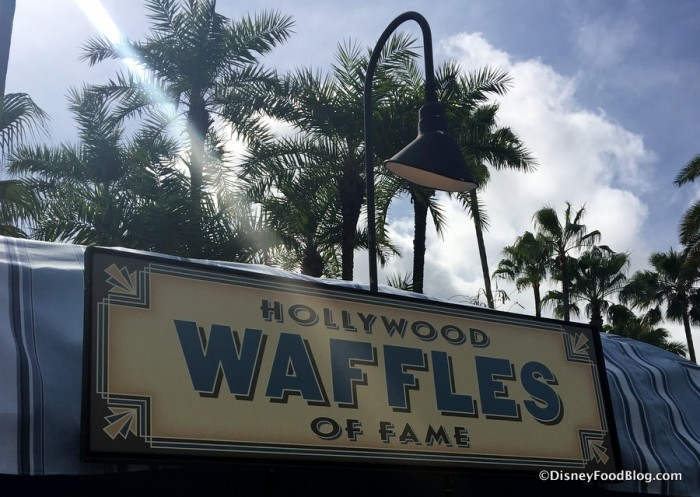 Hollywood Waffles of Fame sign