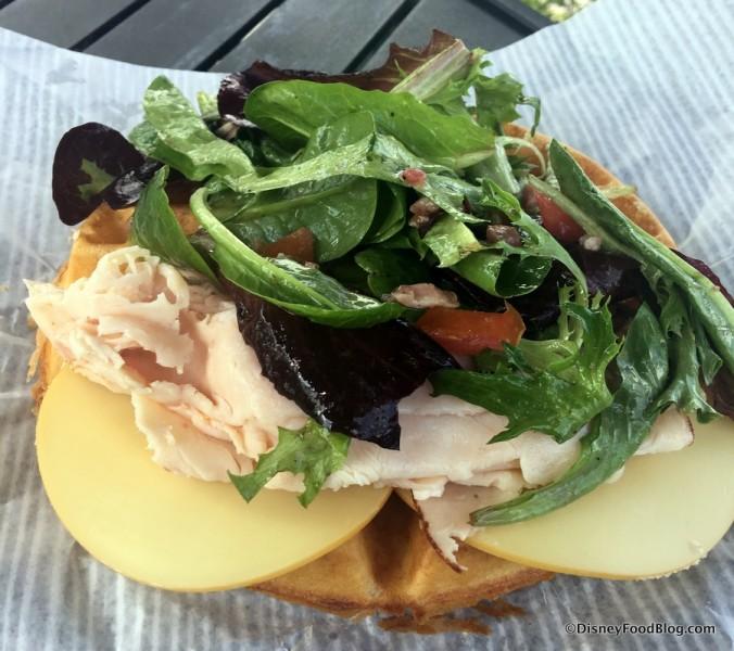 Shaved Turkey and Gouda Waffle Sandwich
