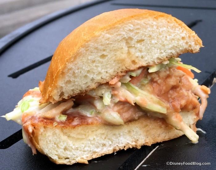 Barbecued Chicken Slider