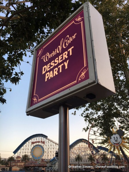 World of Color Dessert Party Signage