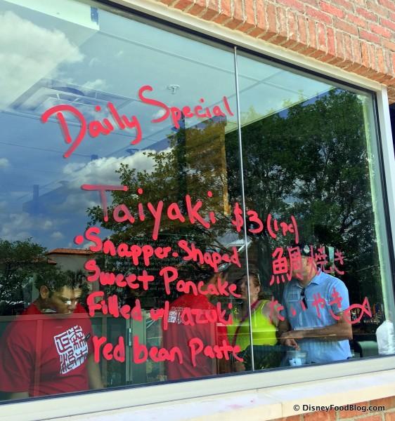 Lettering on Window