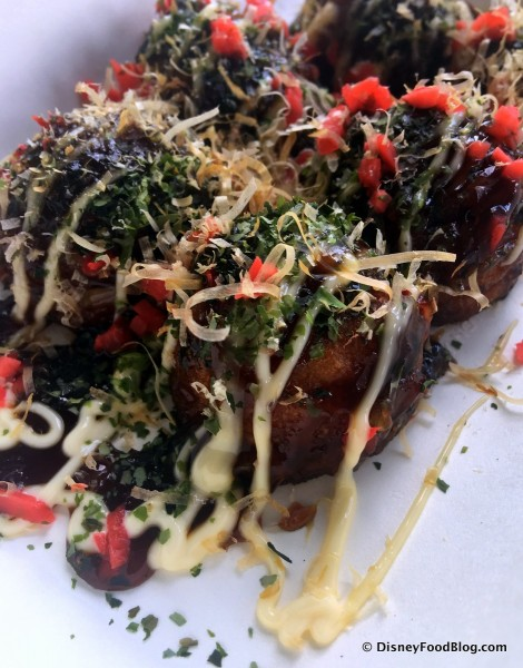 Takoyaki -- Octopus Fritters -- Up Close