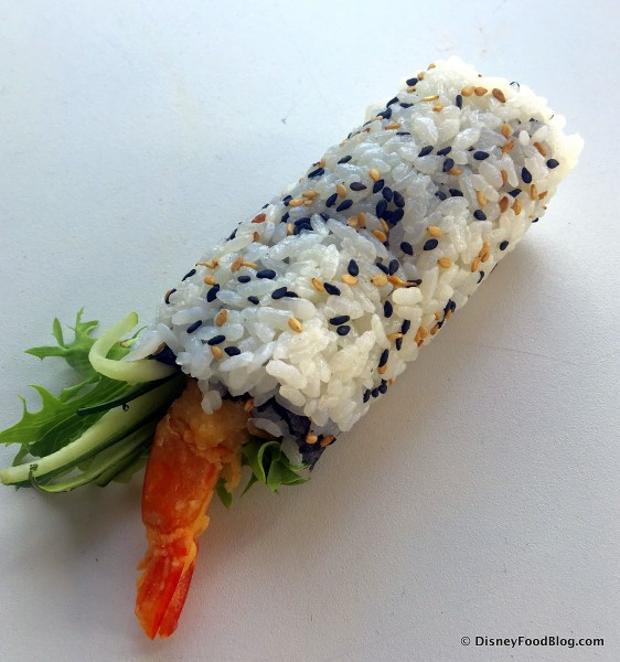 Shrimp Tempura Roll -- Unwrapped