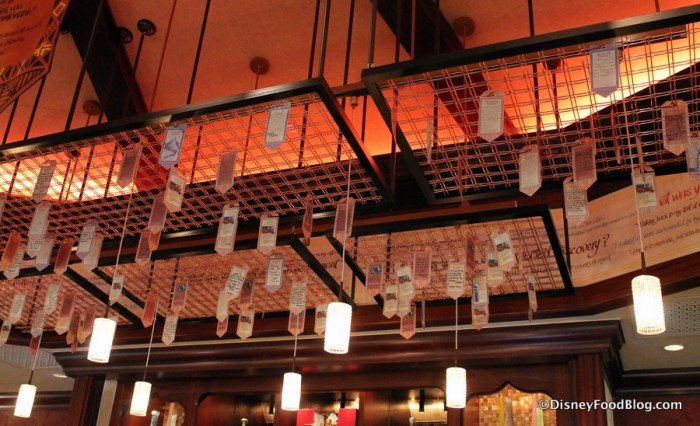 Mini Banners hanging above the bar