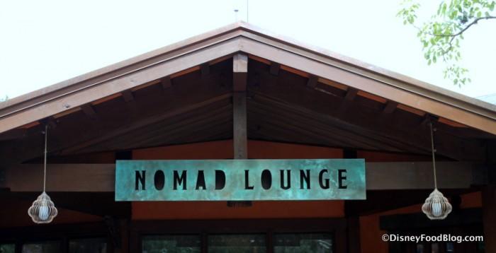 Nomad Lounge sign