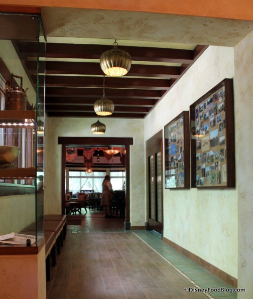 Hallway from Tiffins front desk to Nomad Lounge