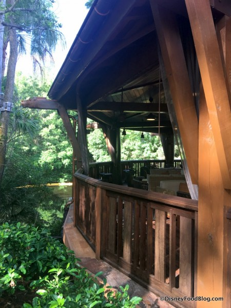 Treehouse feel to the Nomad Lounge outdoor dining area