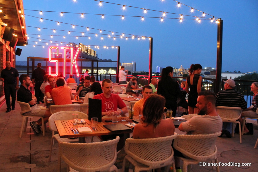 Upper Level Patio Dining At Stk Orlando