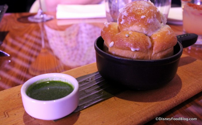 Complimentary Bread with Blue Butter and pesto