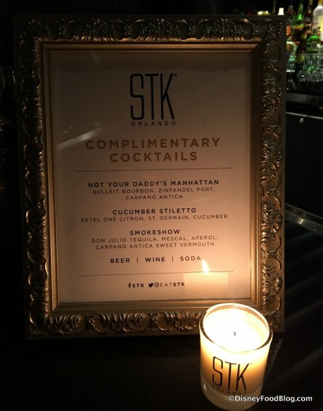 STK Complimentary Cocktails for the Preview Event