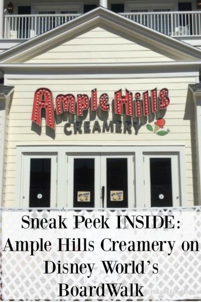 Sneak Peek INSIDE Ample Hills Creamery on Disney World's BoardWalk