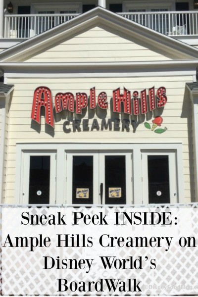 Sneak Peek INSIDE Ample Hills Creamery on Disney World's BoardWalk