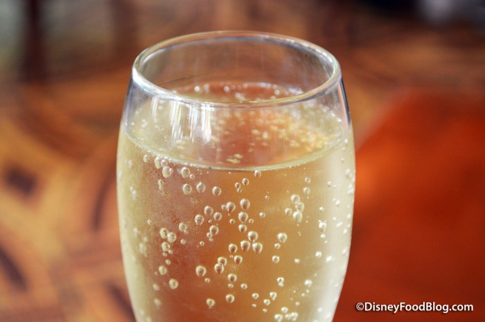 Closeup of the Sparkling Louis Perdrier, Brut